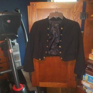 Forever 21 black cropped jacket size L